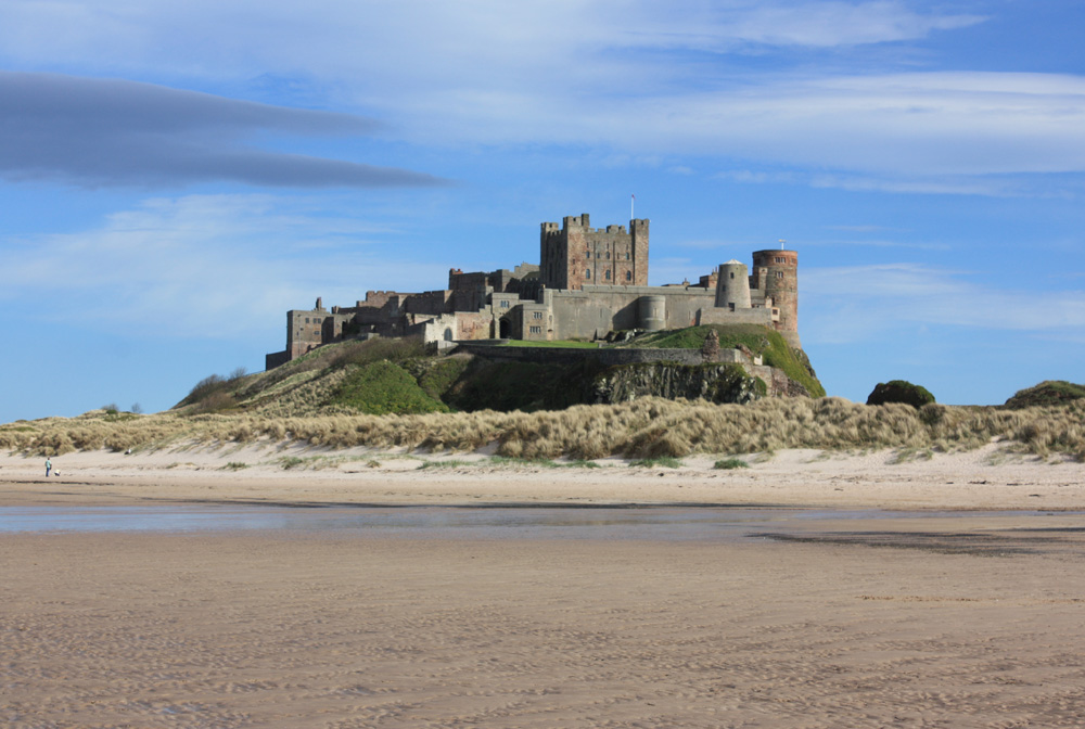 The view at Bamburgh Castle