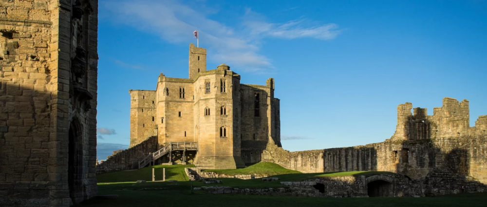 The grounds of Warkworth Castle